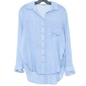 Free People Top Shirt Thats A Wrap Blue XS CJ